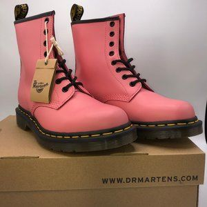Dr. Martens 1460 Leather Boots in Acid Pink